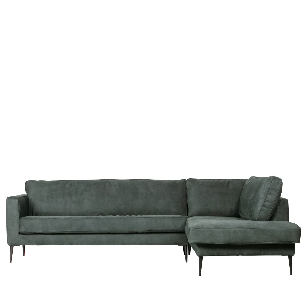 Canapé angle droit aspect daim Bleu Foncé