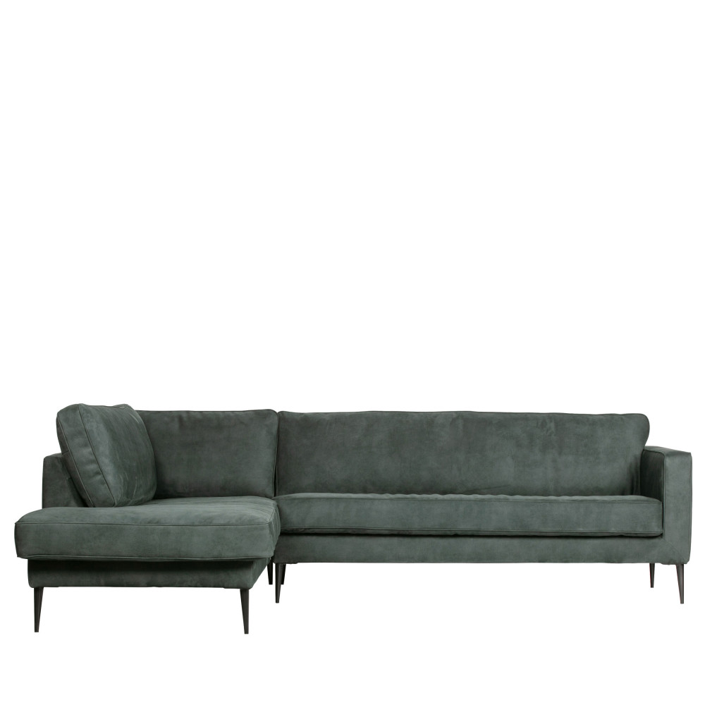 Canapé angle gauche aspect daim - Vtwonen Bleu Foncé