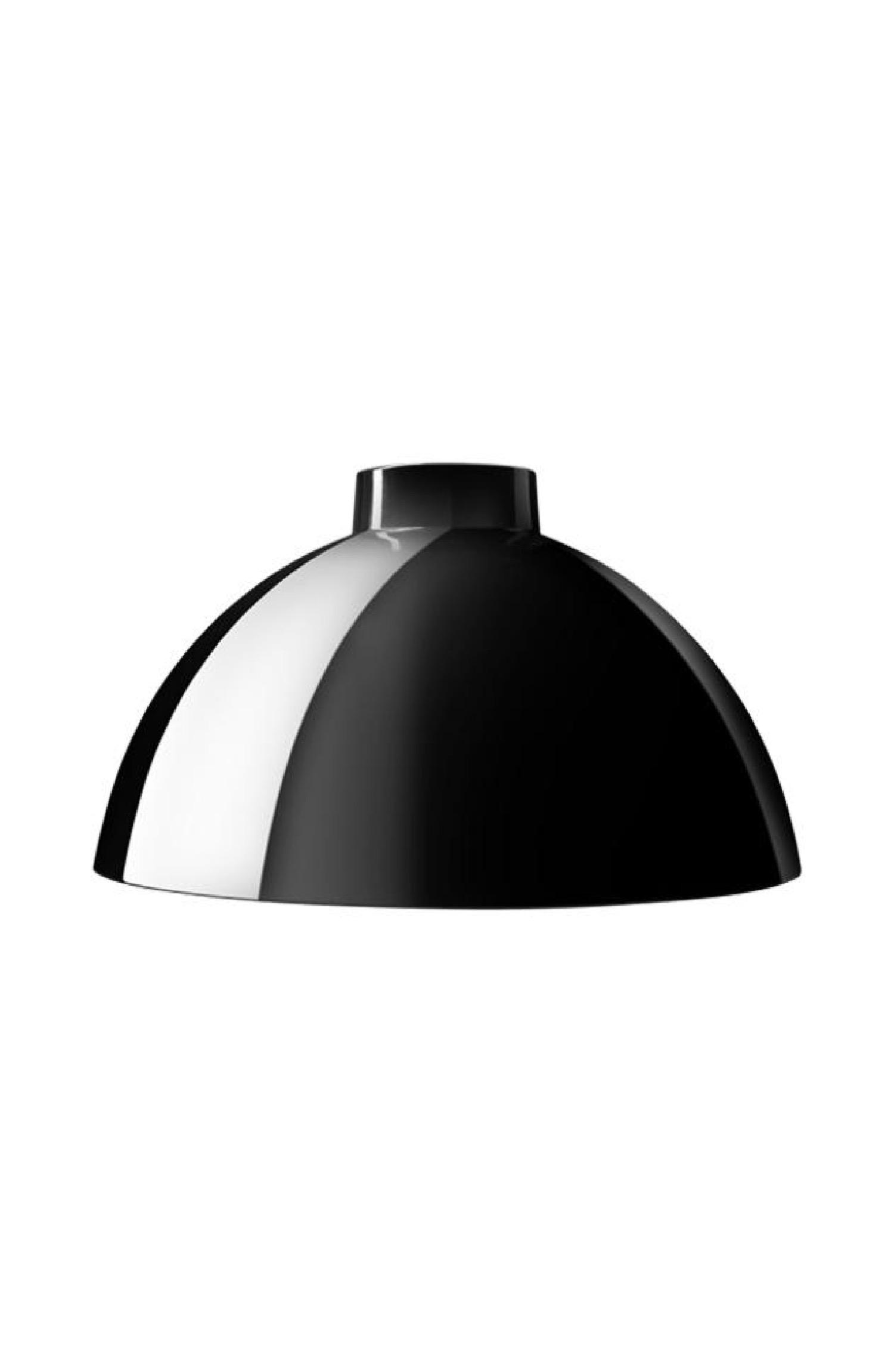 Abat-jour pour suspension en aluminium laqué noir