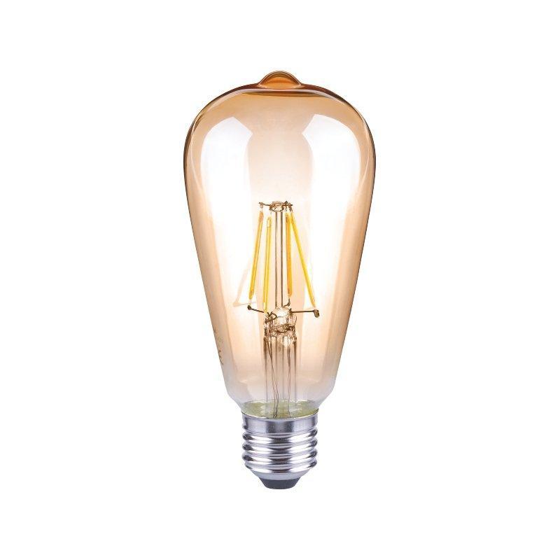 Ampoule led en verre ambre