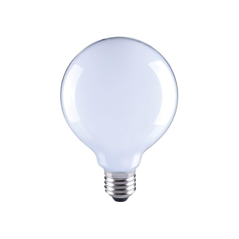 Ampoule led E27 en verre blanc mat