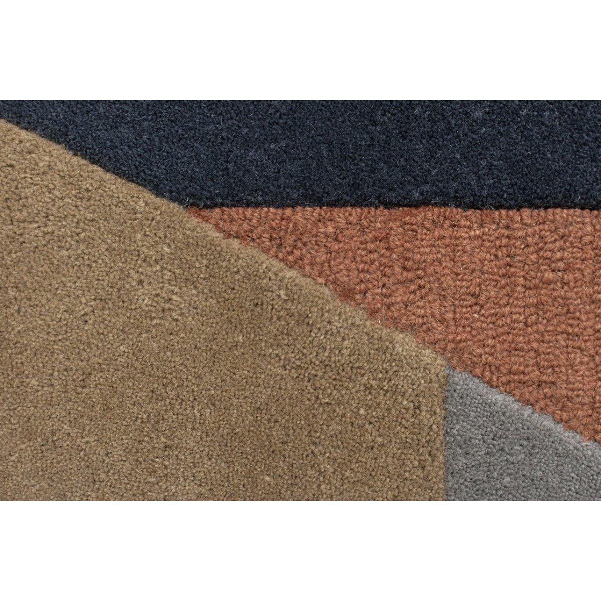 ALWYN - Tapis géométrique design en laine multicolore 200x290