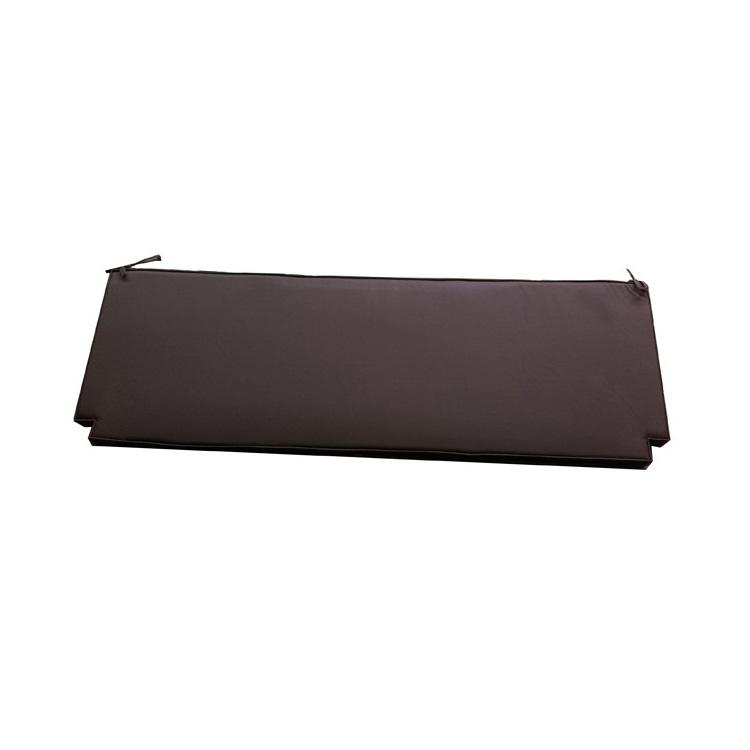 Coussin chocolat pour banc de jardin 150cm