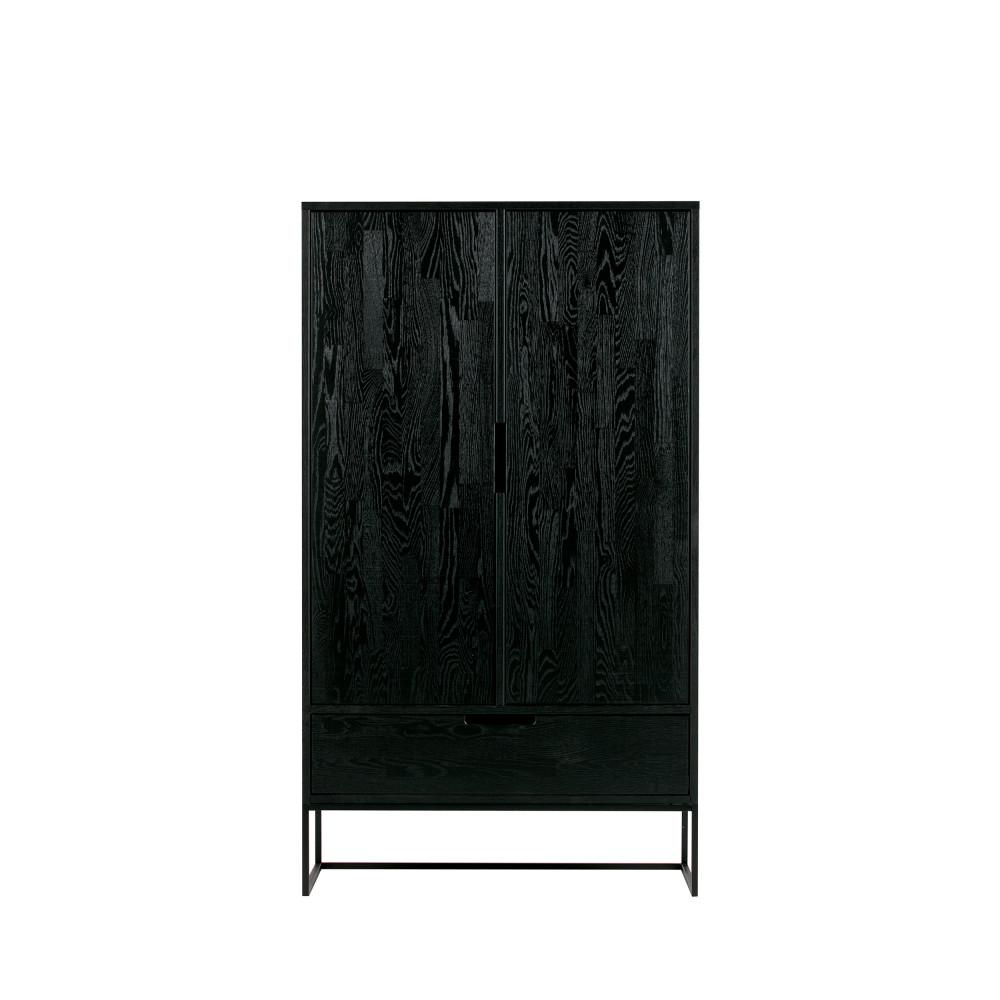 Buffet haut design en bois noir