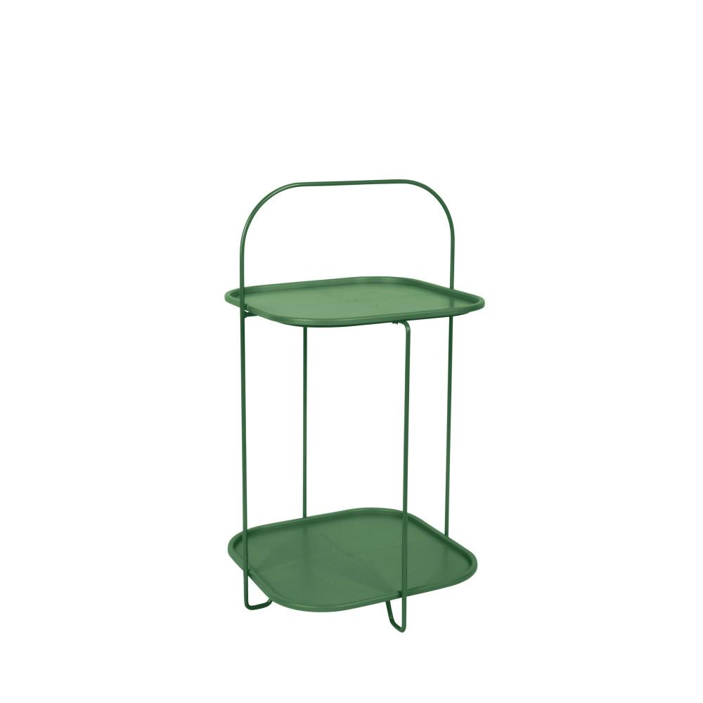 Table d'appoint en métal vert forêt