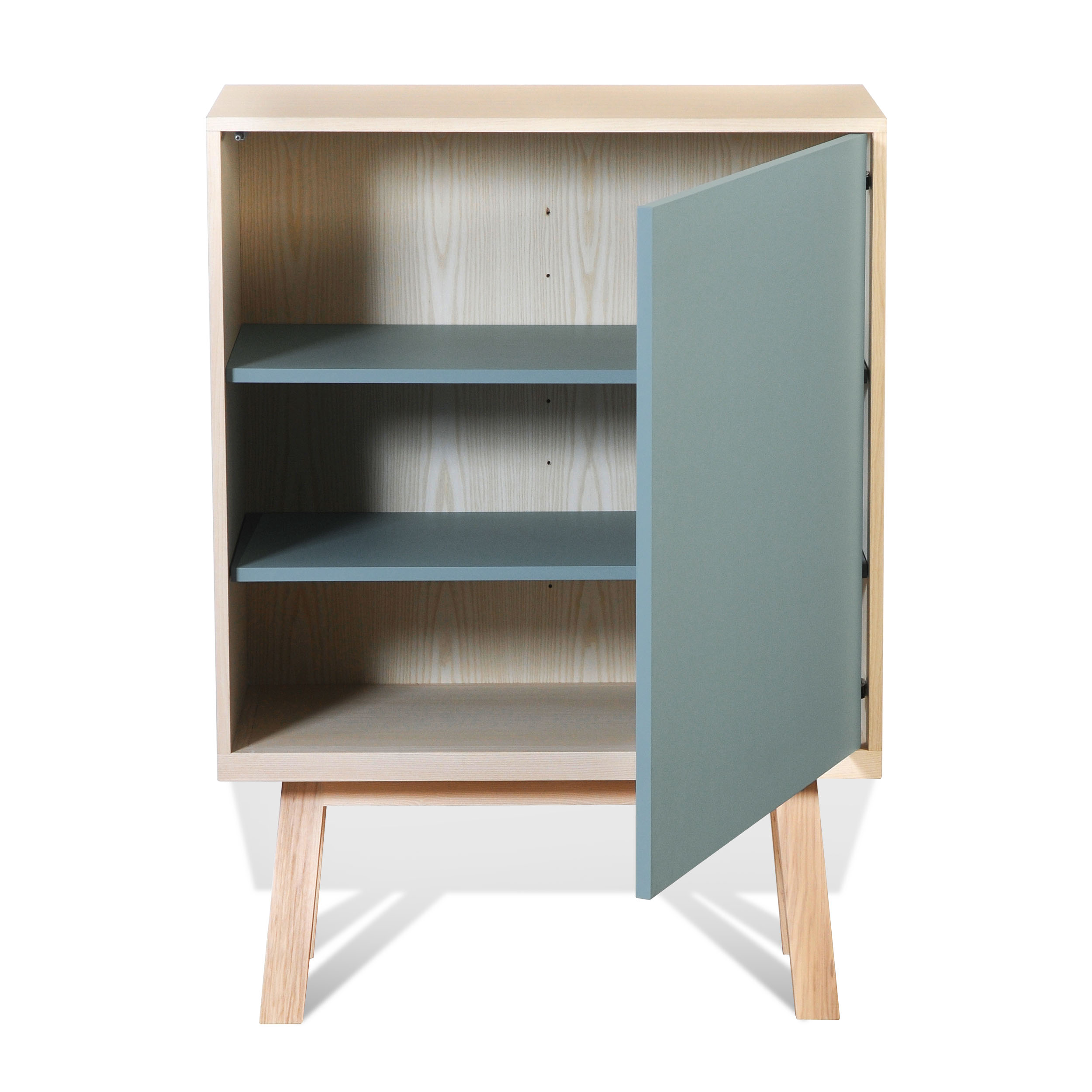 Armoire 1 porte en bois bleu briac (photo)