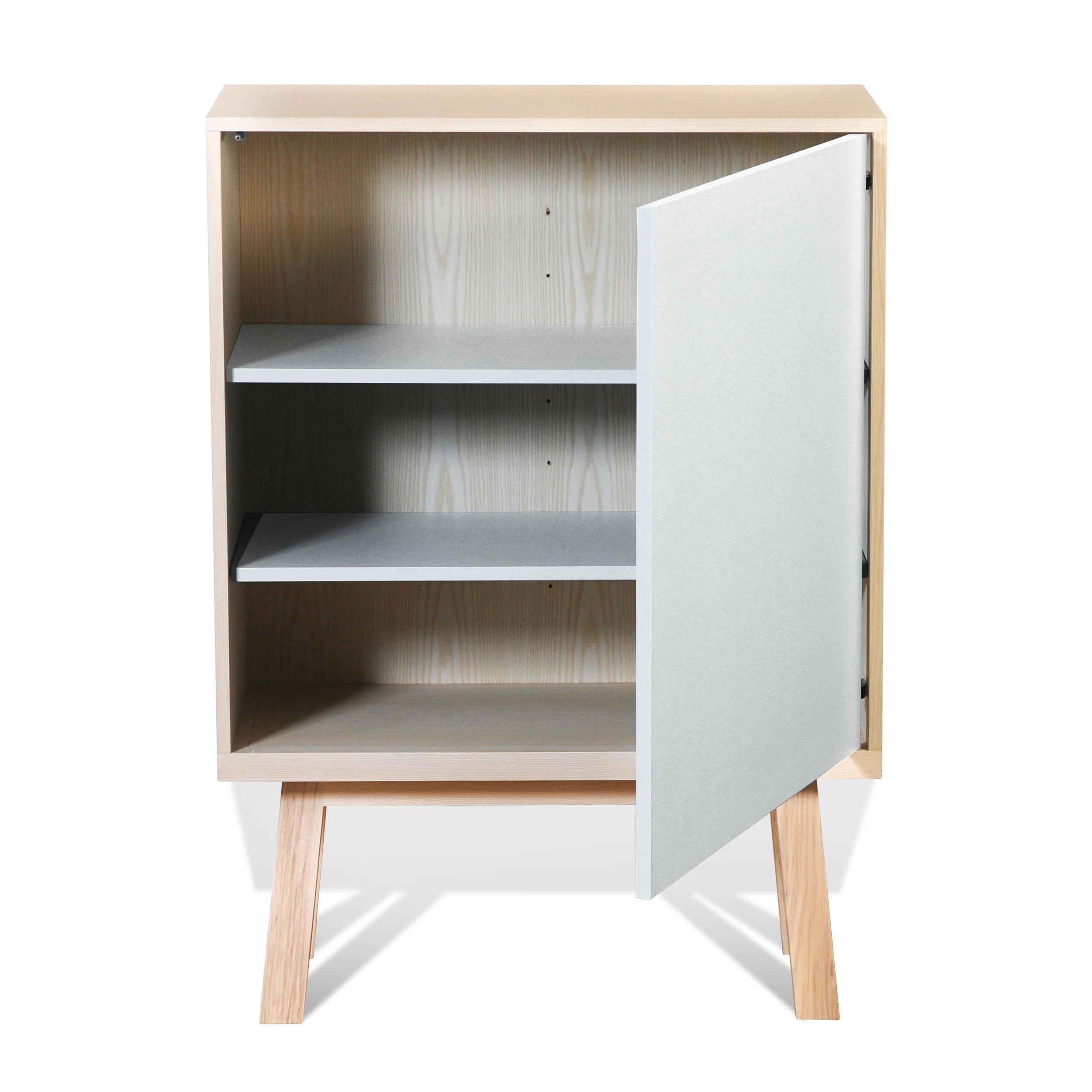 Armoire 1 porte en bois blanc balisson (photo)
