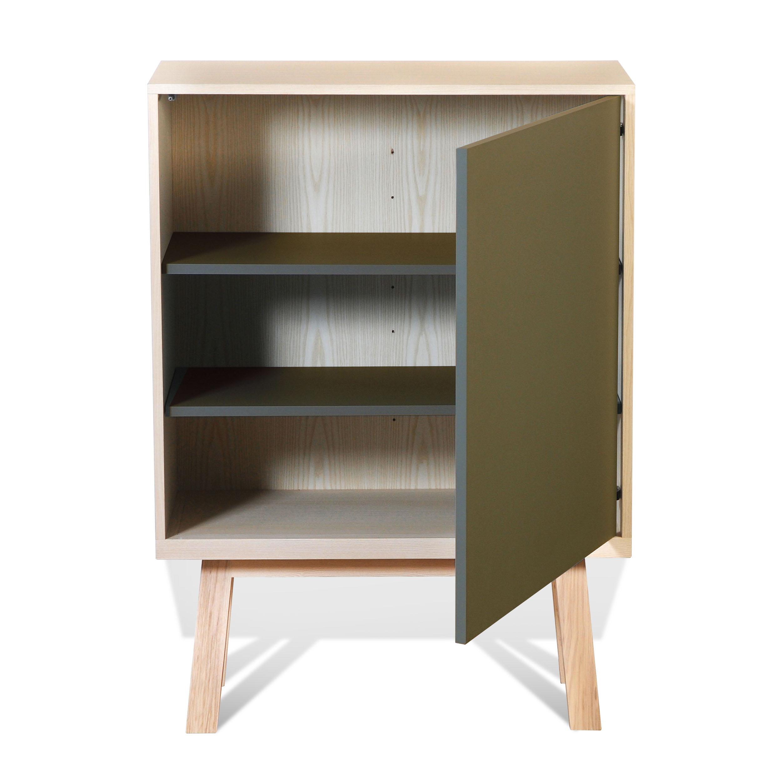 Armoire 1 porte en bois vert lancieux (photo)