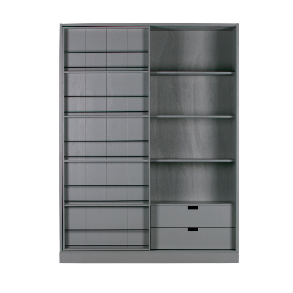 Vaisselier à porte coulissante en pin gris
