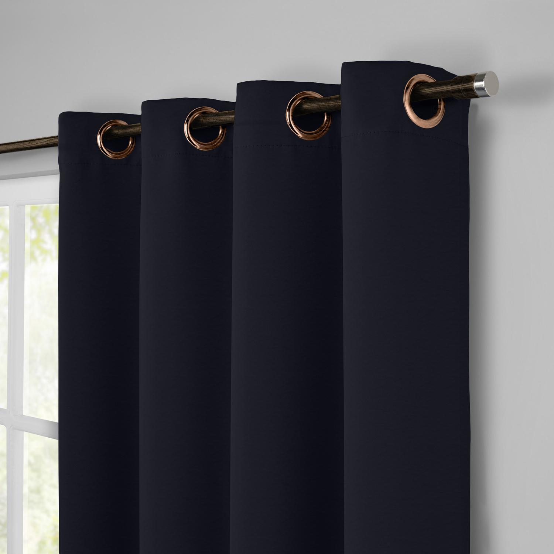 Rideaux voilage en lin Bleu 140x280