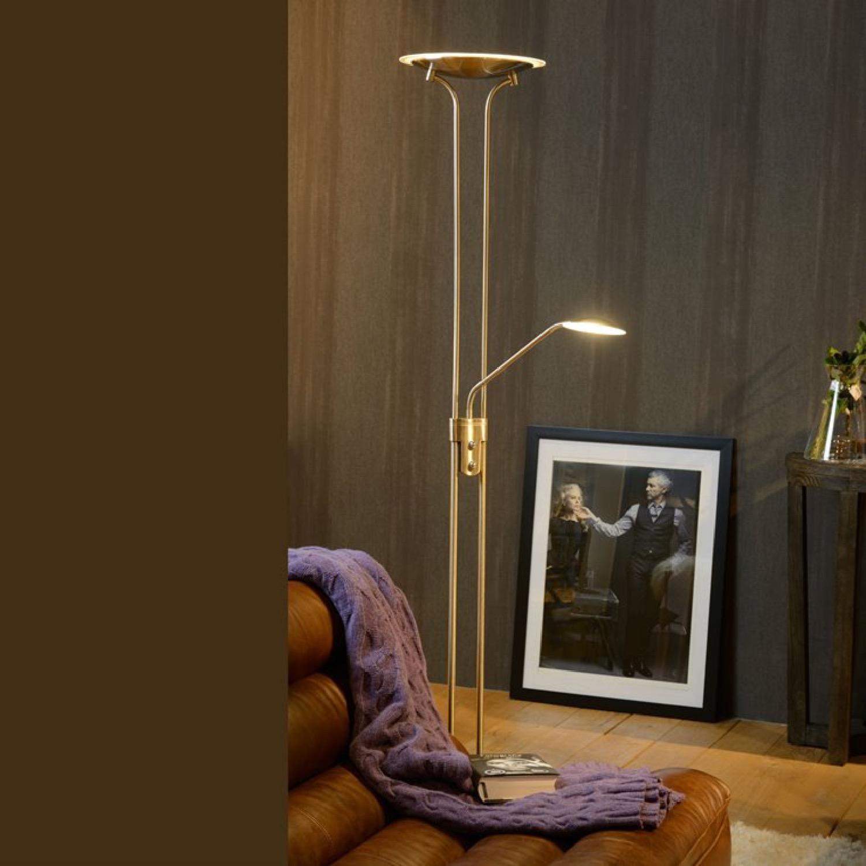Lampadaire LED avec liseuse métal H180cm