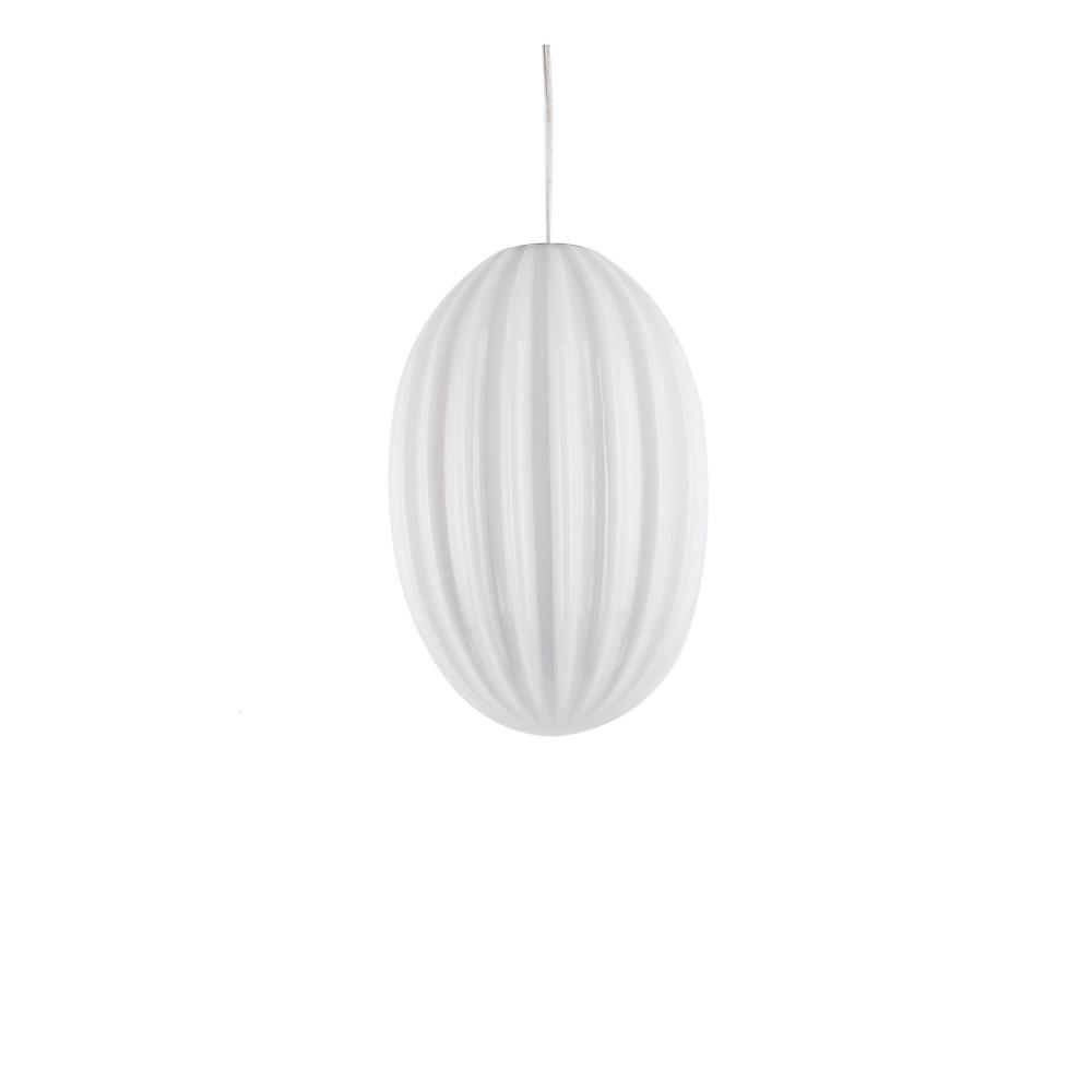 Suspension en verre H30cm blanc