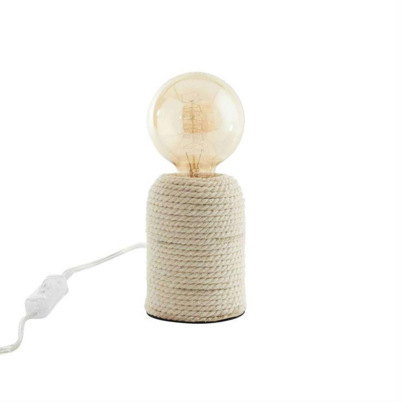 Lampe à poser corde H11,5cm