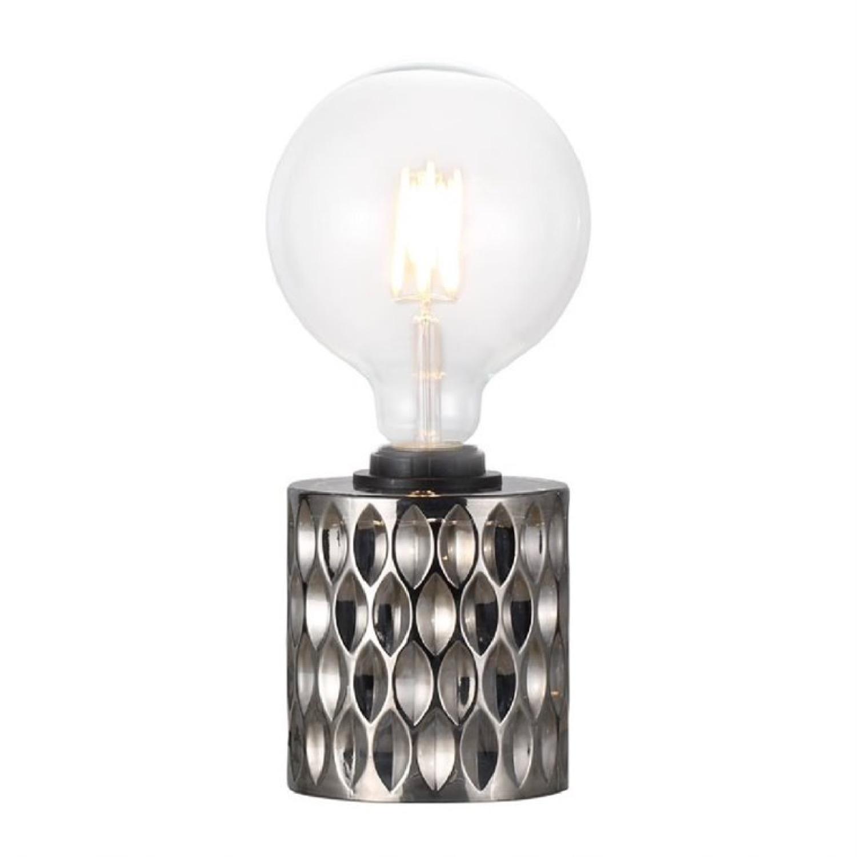 Lampe à poser verre gris H12,8cm