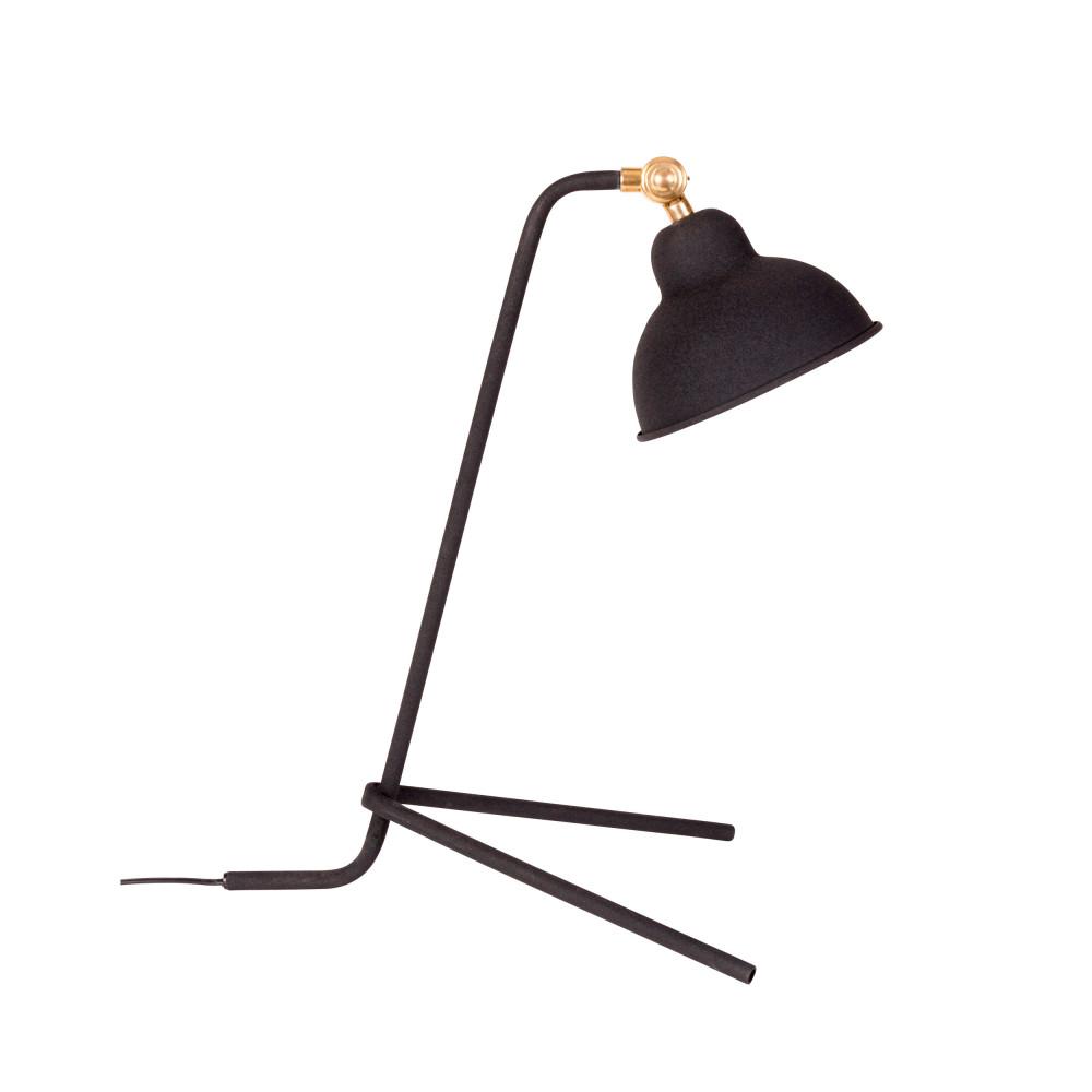 Lampe à poser design en métal noir