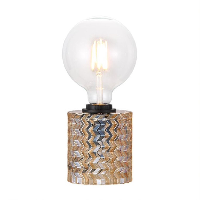 Lampe à poser verre orange H12,8cm