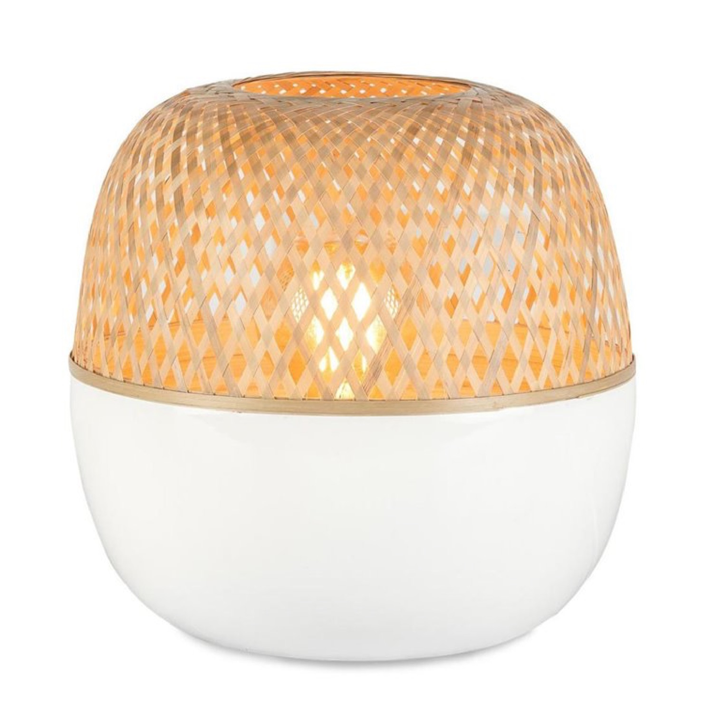 Lampe à poser bambou H33cm