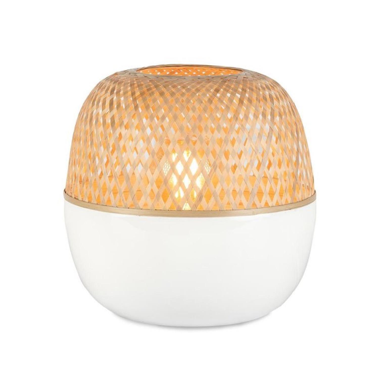 Lampe à poser bambou H29cm