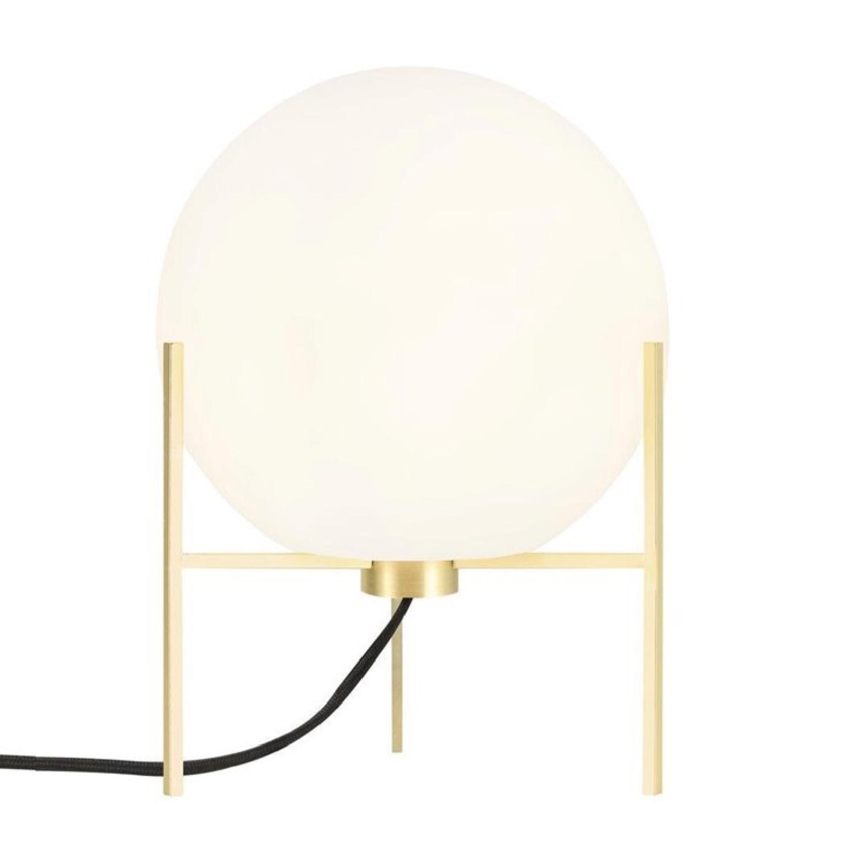 Lampe tripode métal/verre H29cm