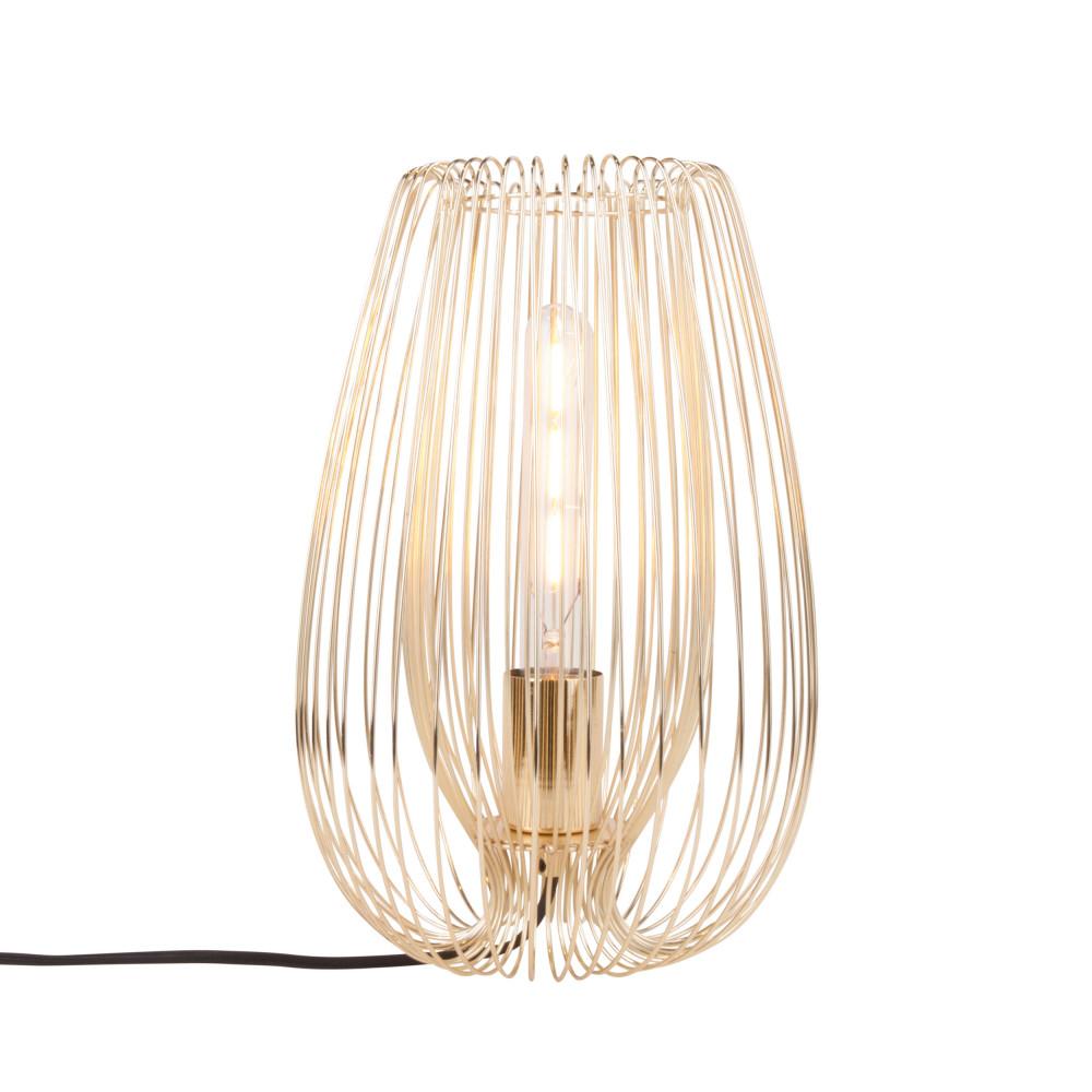 Lampe à poser en métal H33cm or