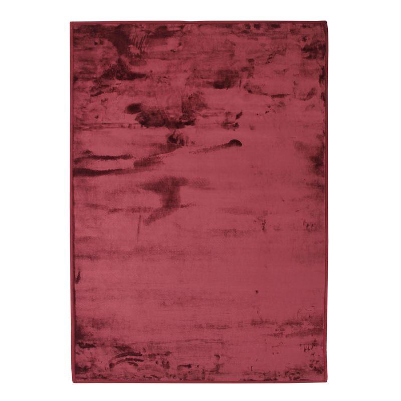 Tapis extra-doux effet velours rouge foncé 120x170