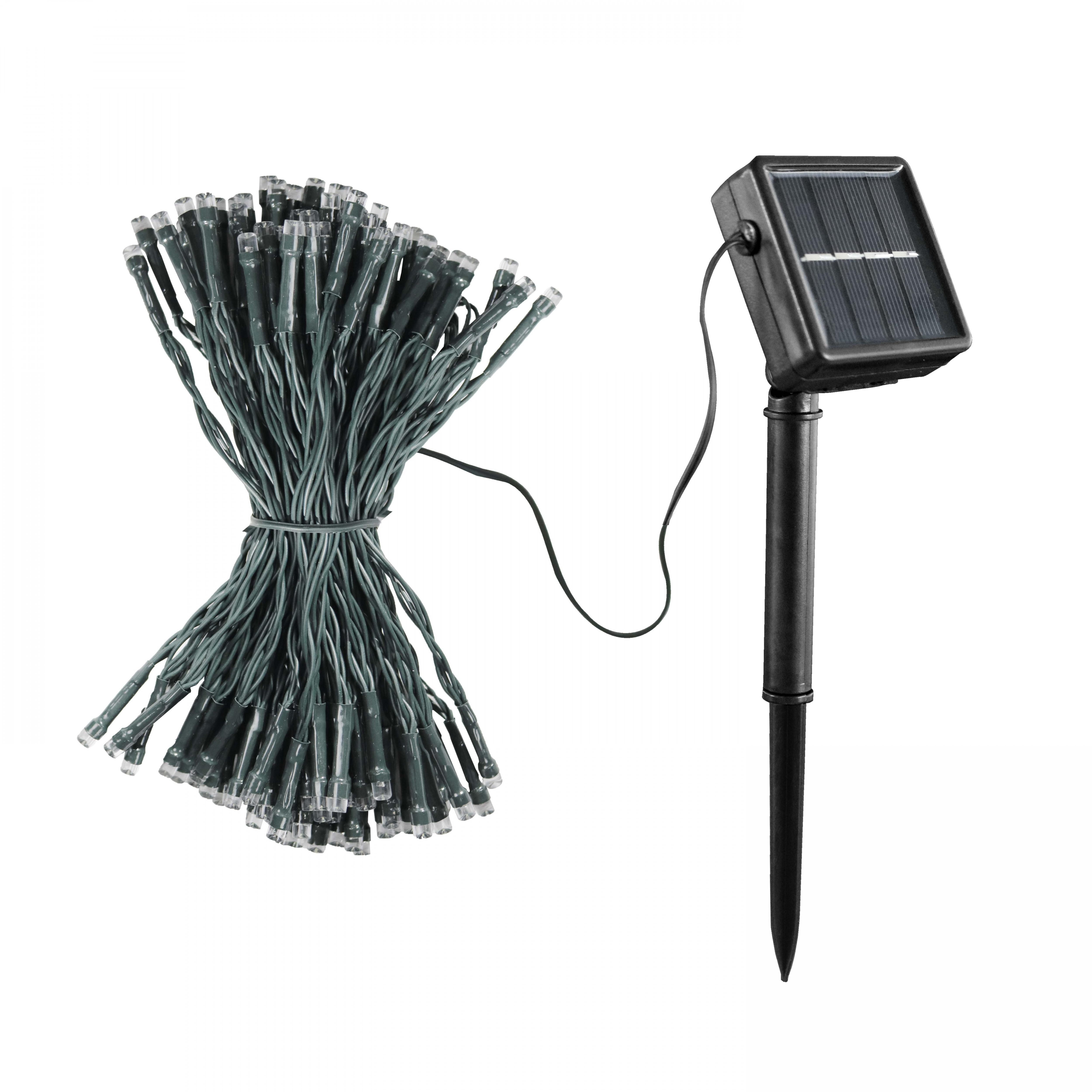 Guirlande solaire 200 LED 22m blanc