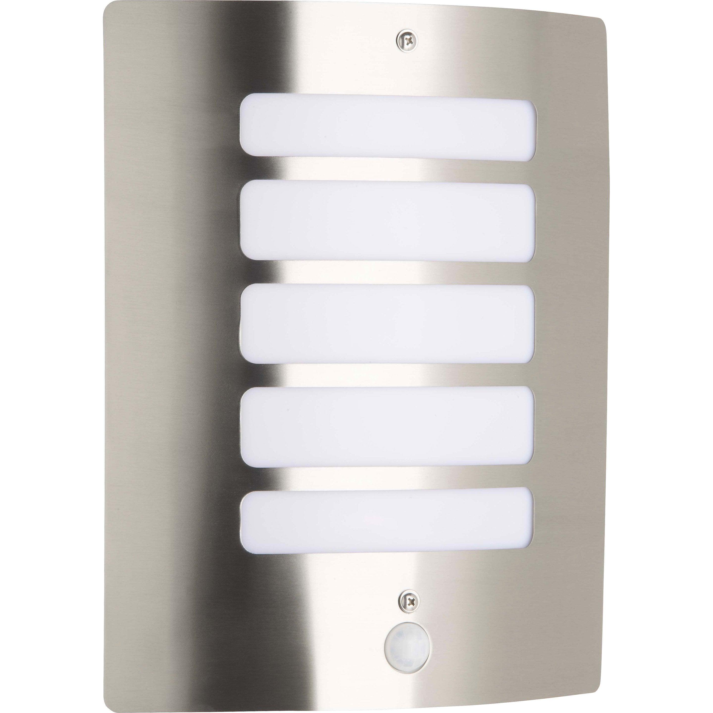 Applique d'extérieur avec détecteur argent H29cm