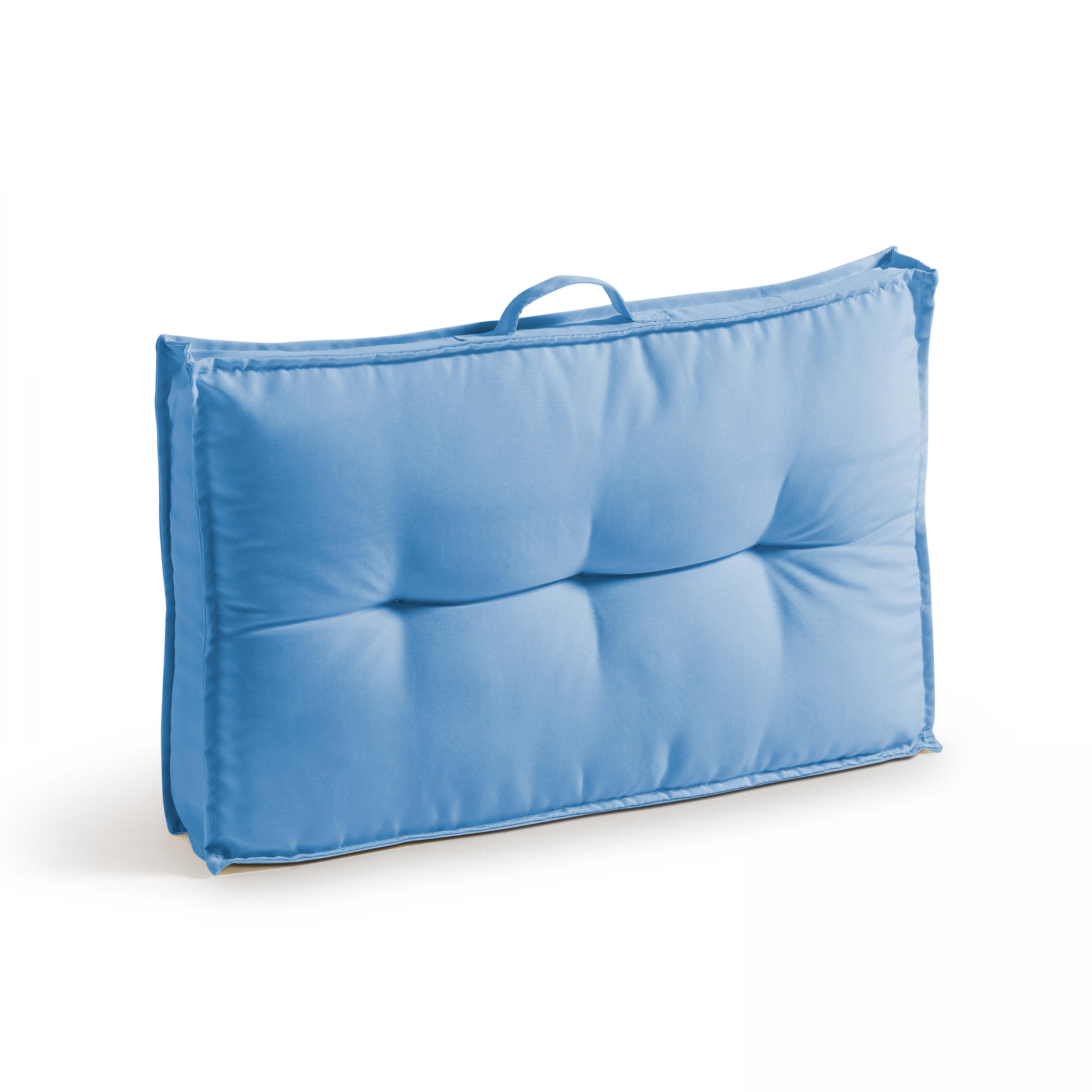Coussin d'extérieur matelassé bleu 60x40