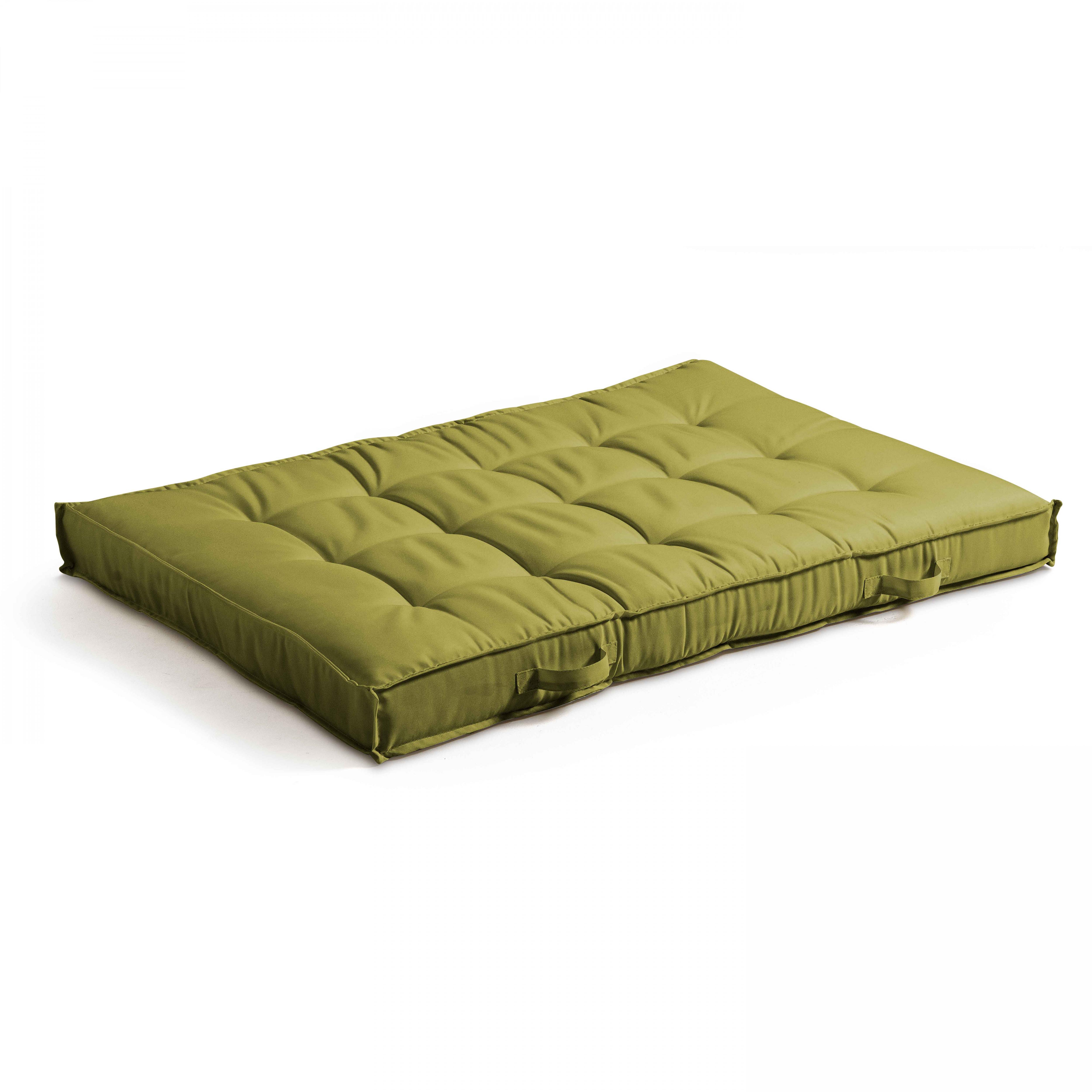 Coussin matelassé pour palette vert 120x80
