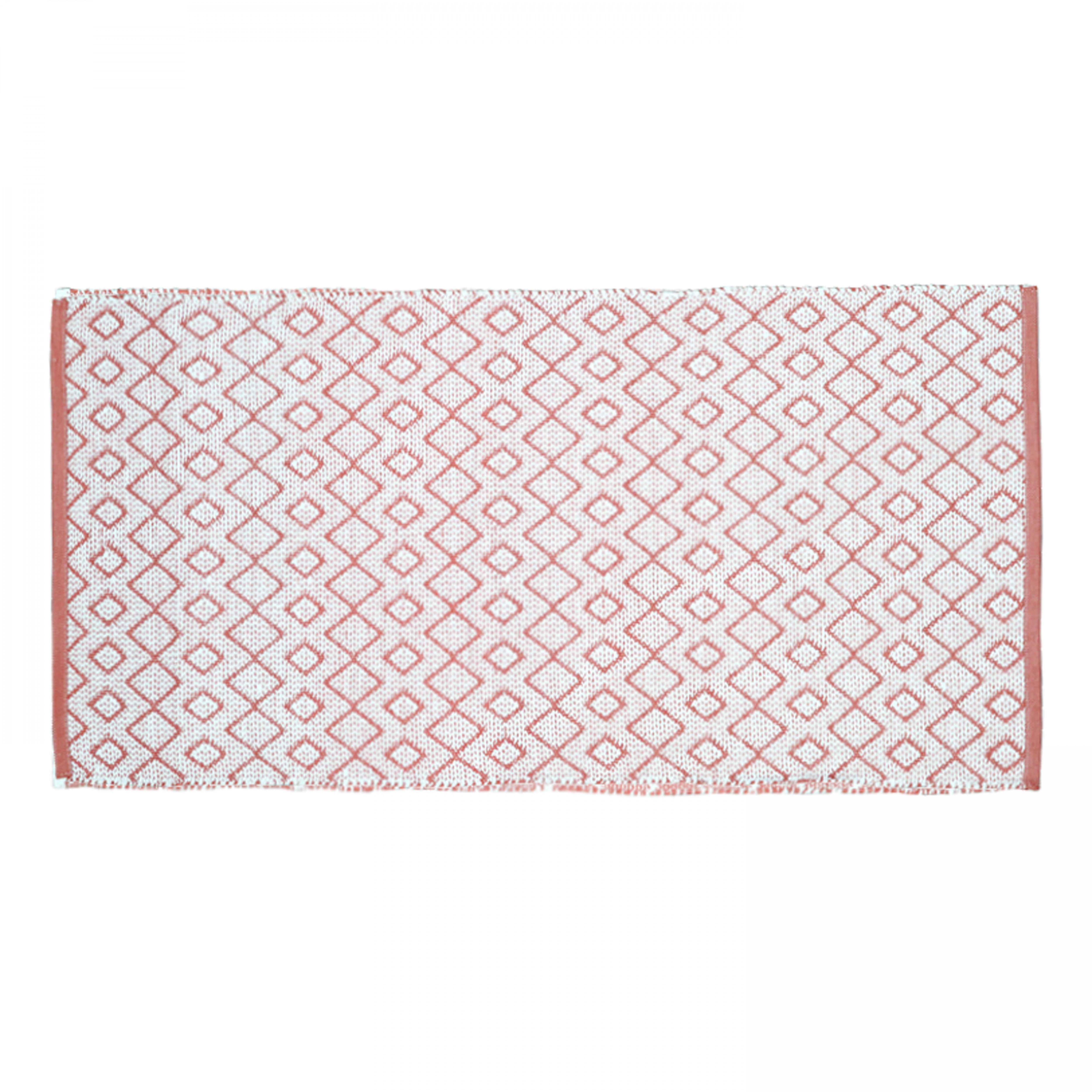 Tapis extérieur et intérieur rouge et blanc rouge 140x70