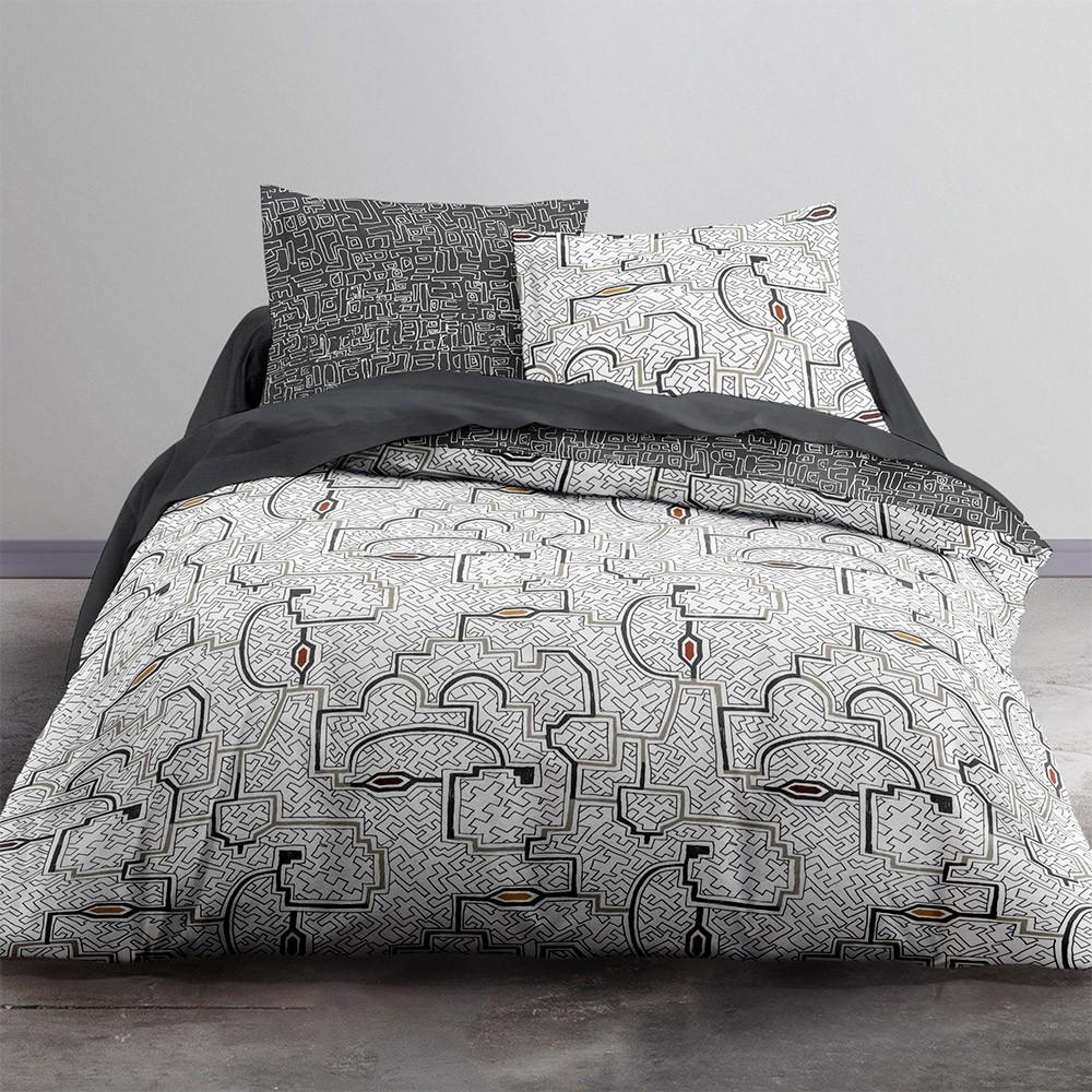 Parure de lit  en coton blanc 240x260