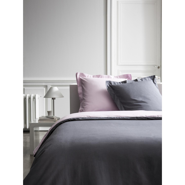 Parure de lit en percale rose 220x240