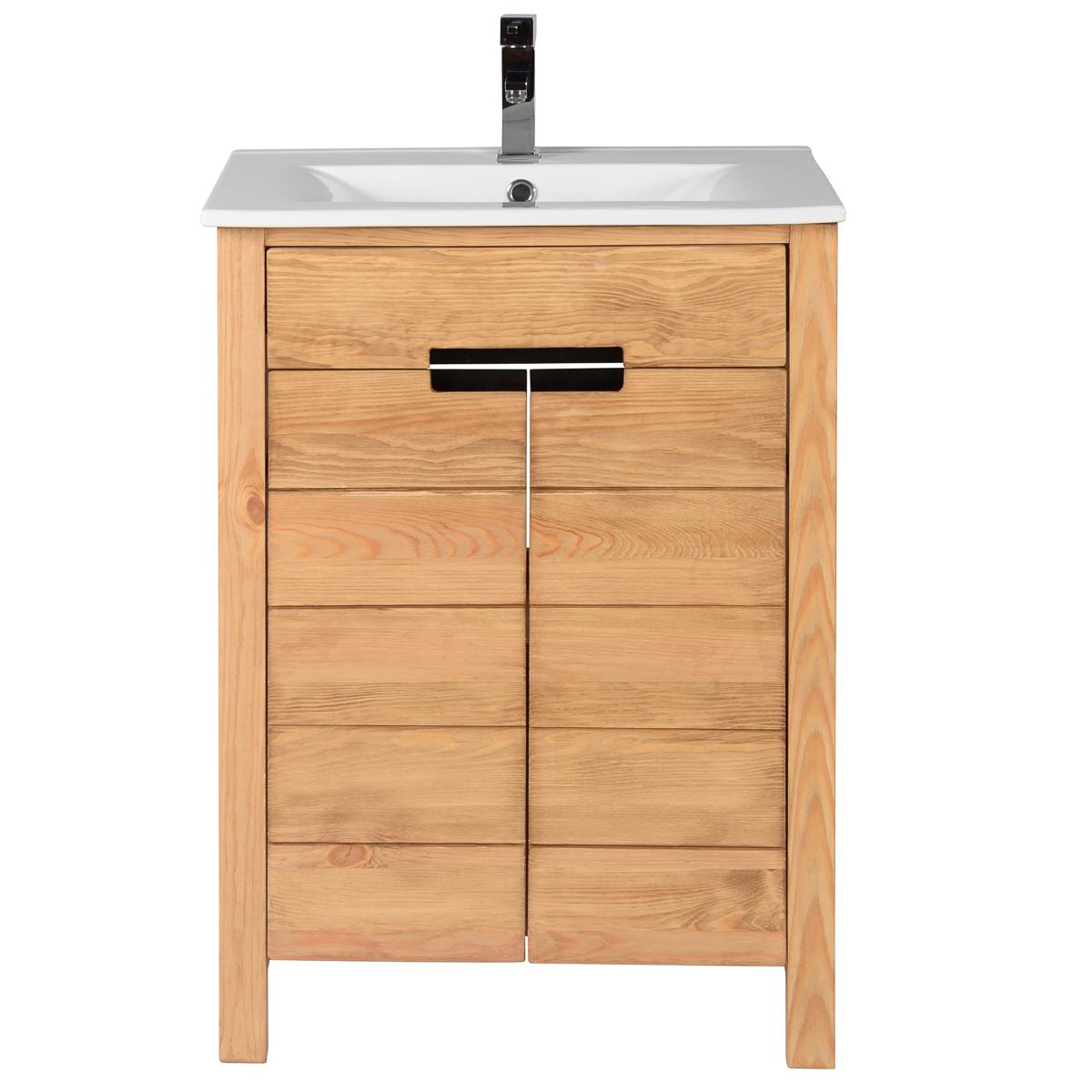 Ensemble meuble sous vasque 60 cm 1 plan vasque 60 cm
