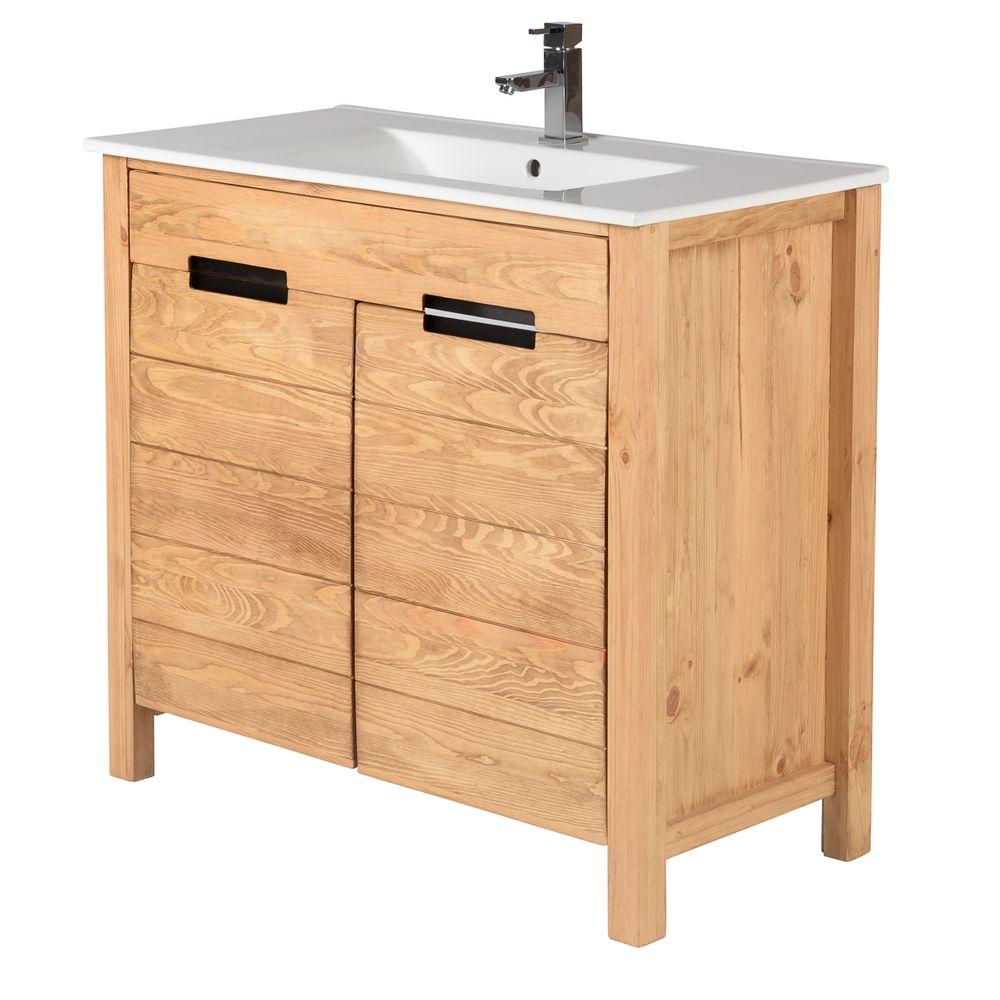 Ensemble meuble sous vasque 90 cm 1 plan vasque 90 cm