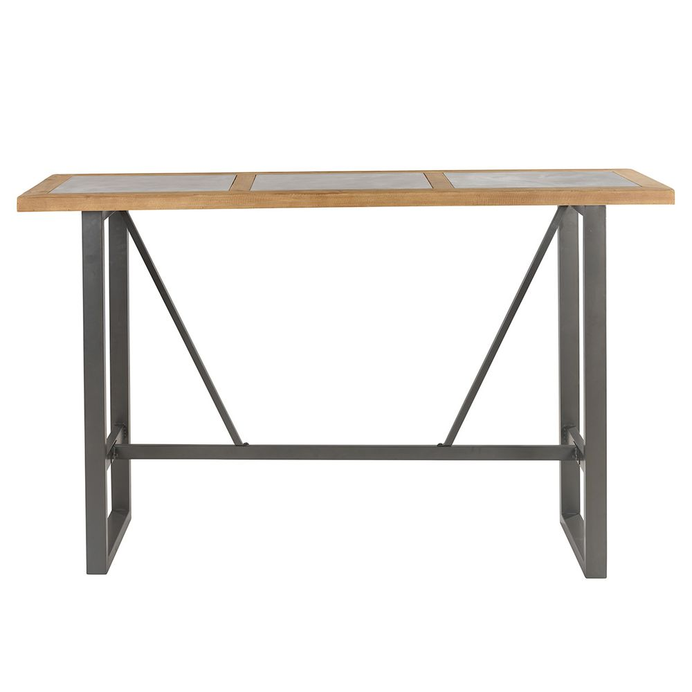 maison du monde Table de bar gris et naturel
