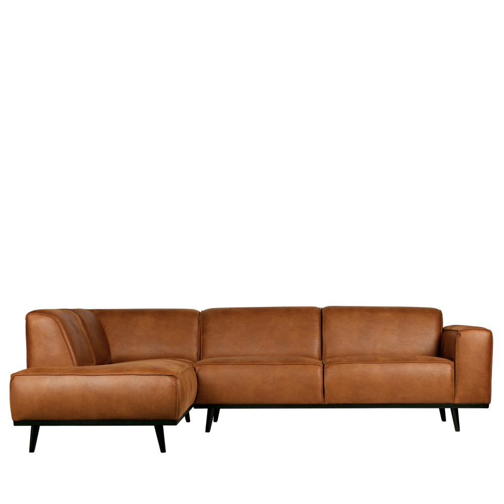 Canapé d'angle Gris Cuir Design Confort