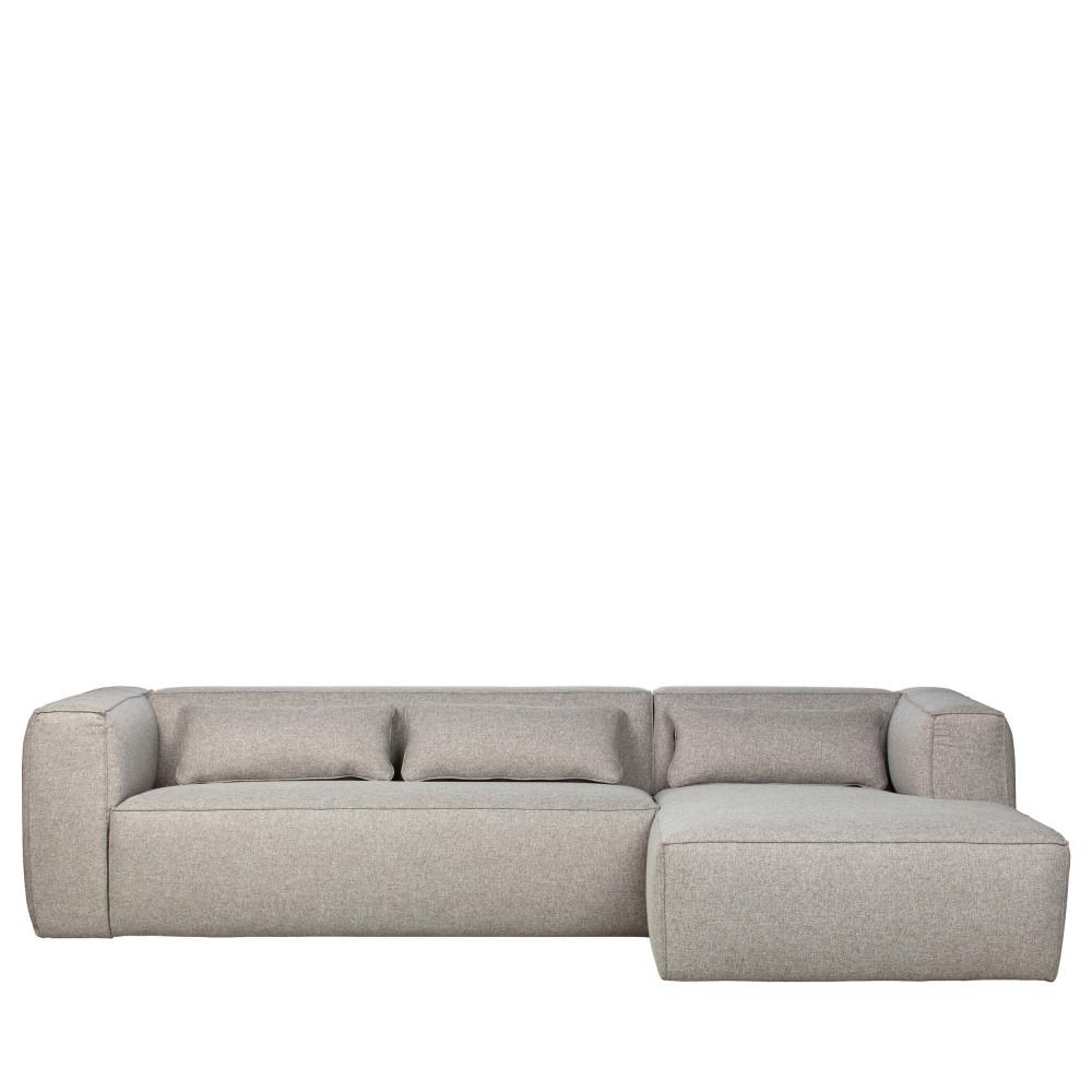 Canapé d'angle Gris Tissu Design Confort