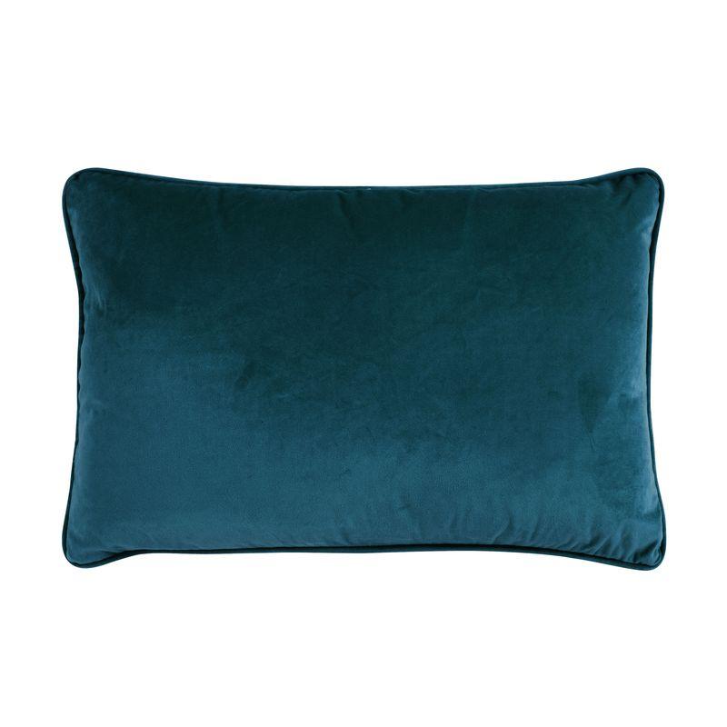 Coussin en velours bleu intense 60x40