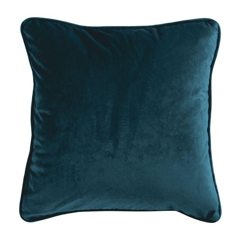 Coussin en velours bleu intense 40x40