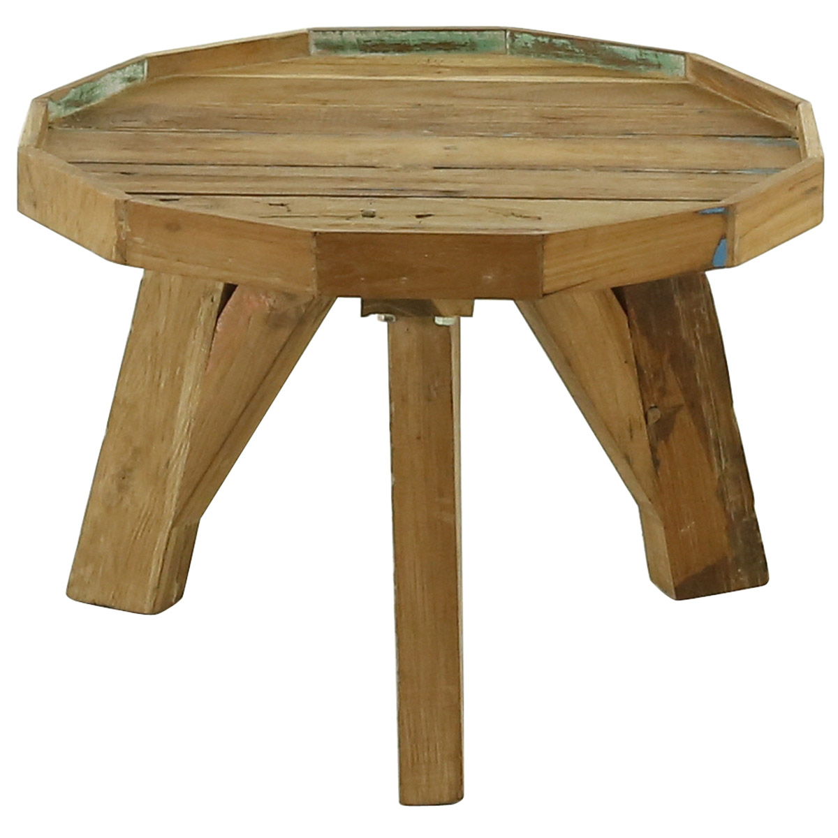 Table basse ronde en bois 50 cm