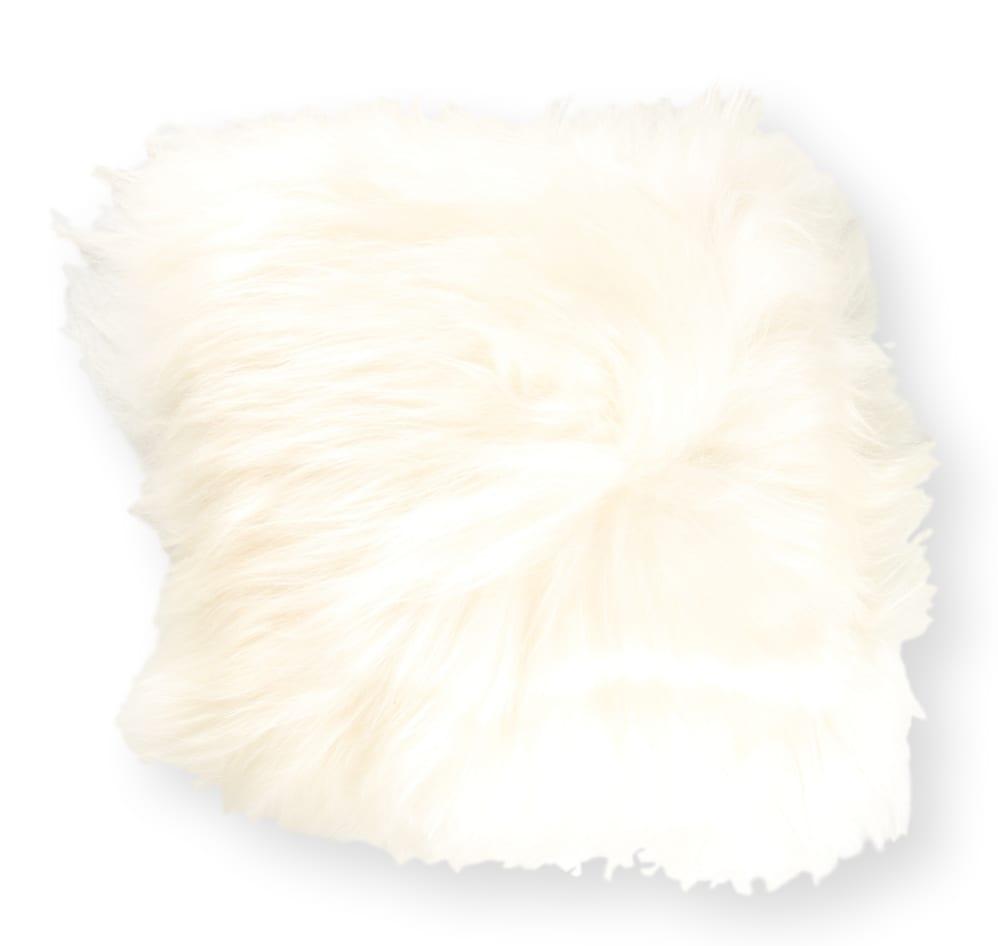 Coussin en peau de mouton islandais blanc 35x35
