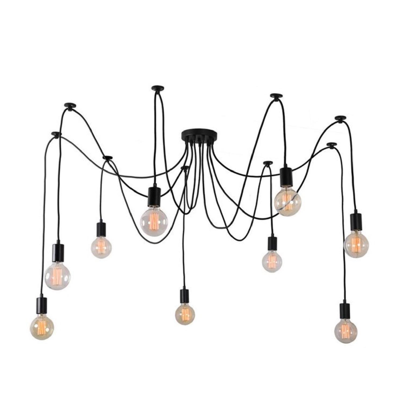 Suspension 9 lumières avec ampoules modulable