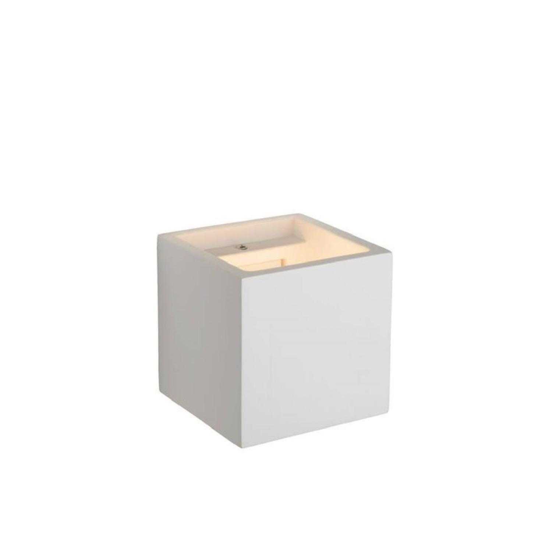 Applique murale cubique plâtre blanc H11.5cm