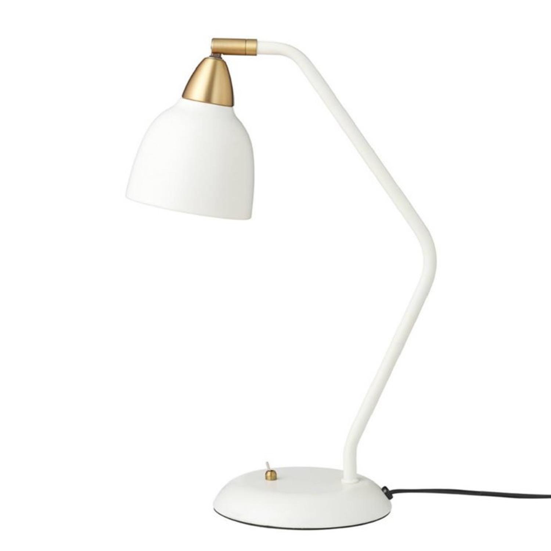 Lampe à poser métal blanc et laiton H45cm