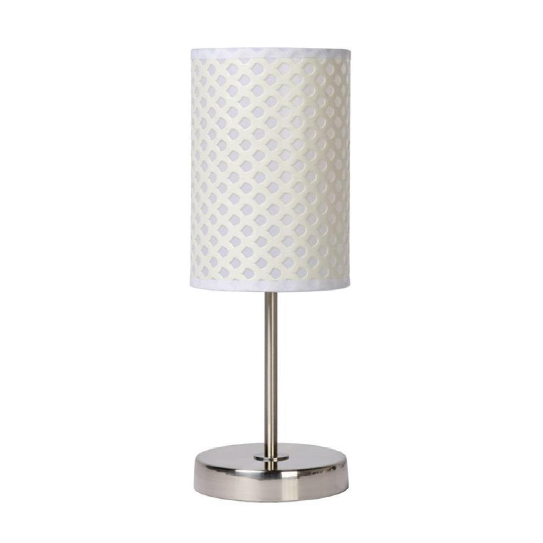 Lampe à poser métal blanc H37cm