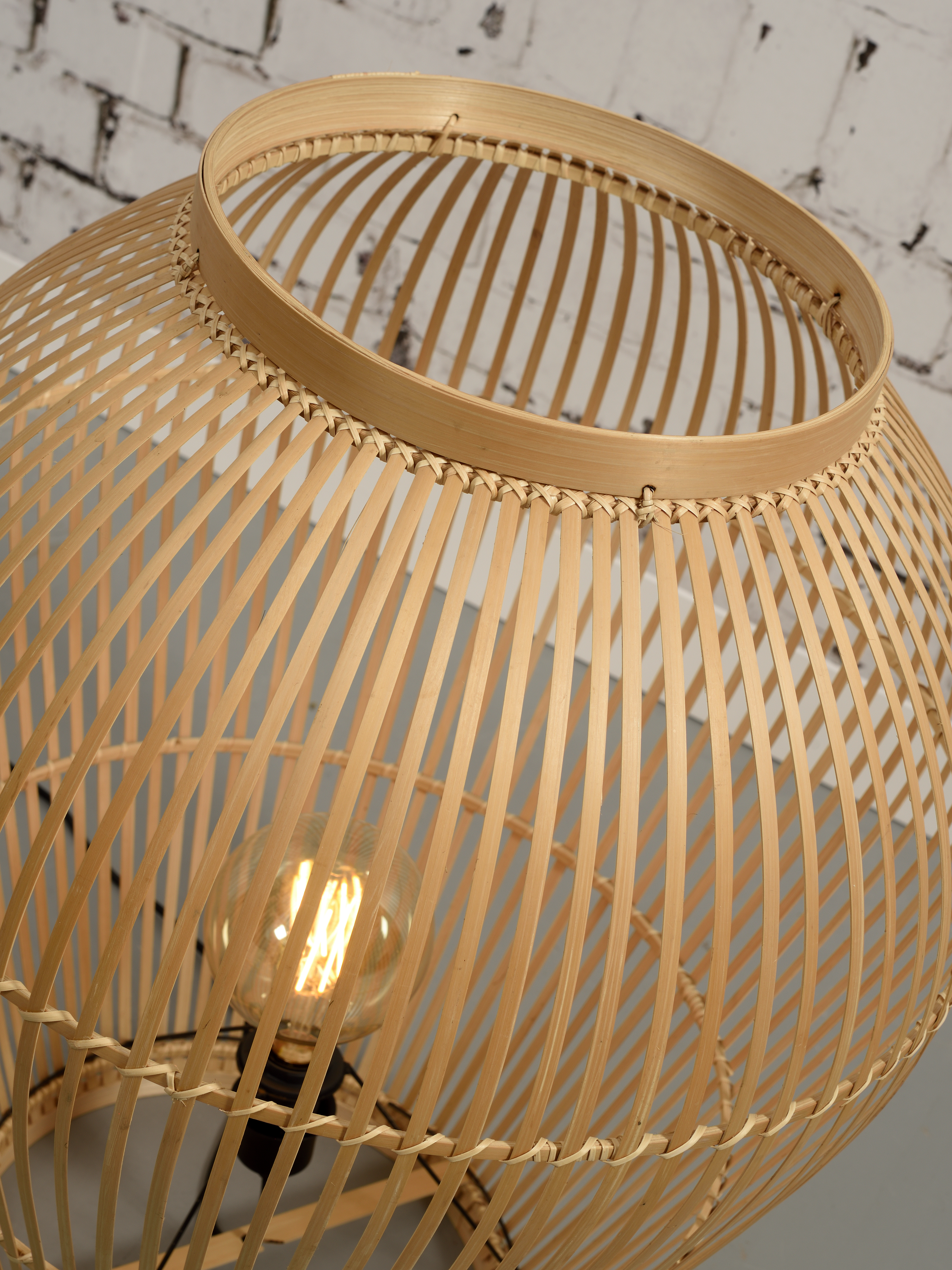 Lampe de sol bambou H70cm