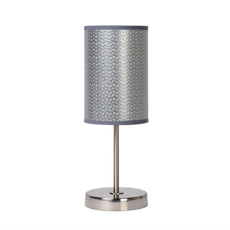 Lampe à poser métal argent H37cm