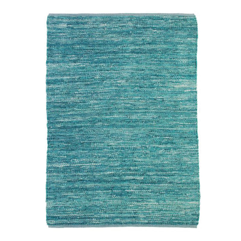 Tapis en cuir tressé bleu clair 160x230