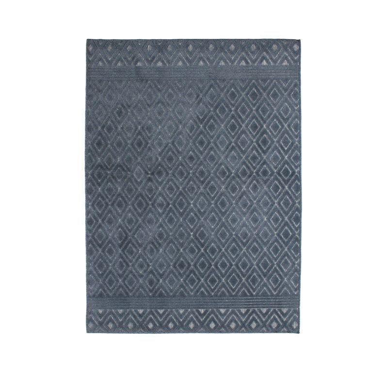 Tapis à motifs losanges bleu 133x180