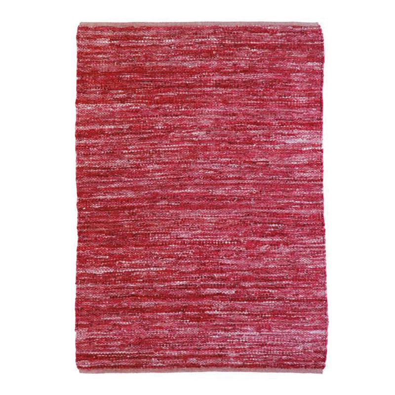 Tapis en cuir tressé burgundy 160x230